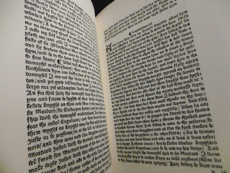 Caxton's edition of Malory  1485