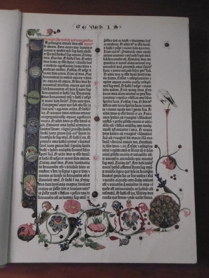 Genesis  Gutenberg Bible