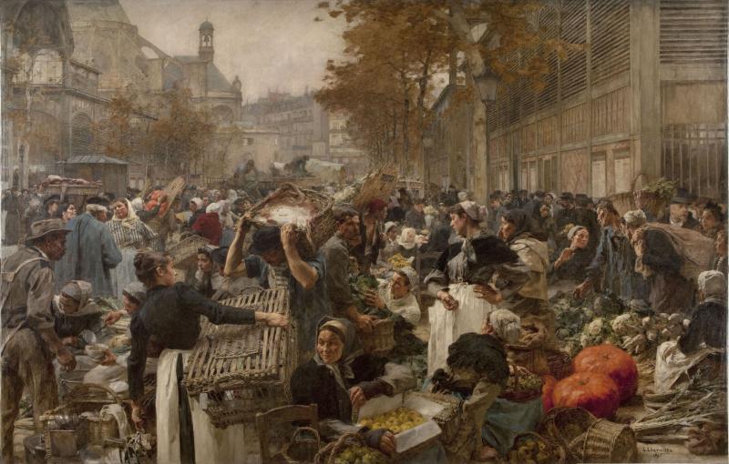 Les Halles by Léon Augustin Lhermite