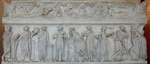 Relief sculpture from a second-century Roman sarcophagus