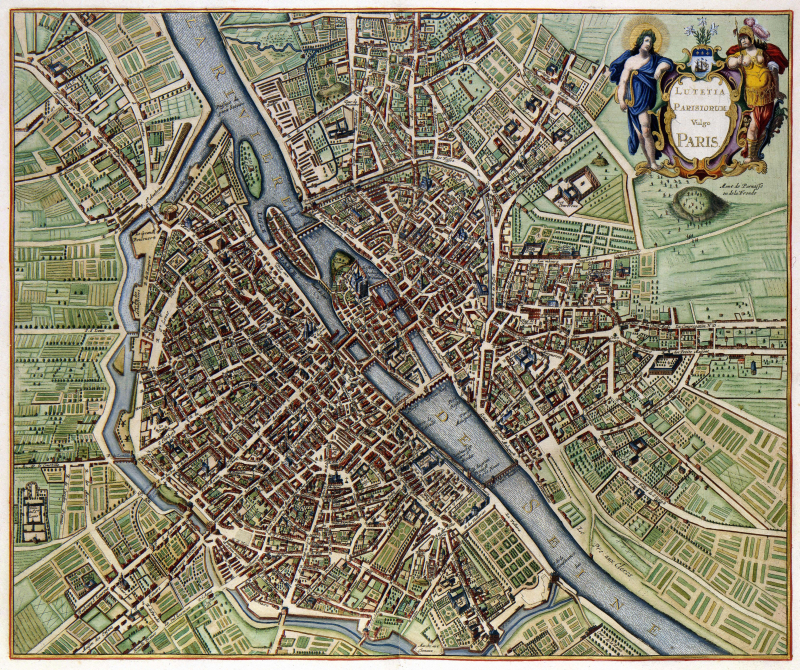 Plan de Paris en 1657