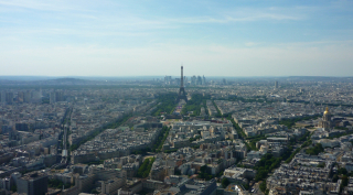The Eiffel Tower from Mont Valérien to Les Invalides