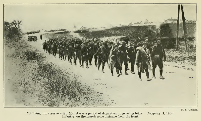 Marching into reserve at St. Mihiel