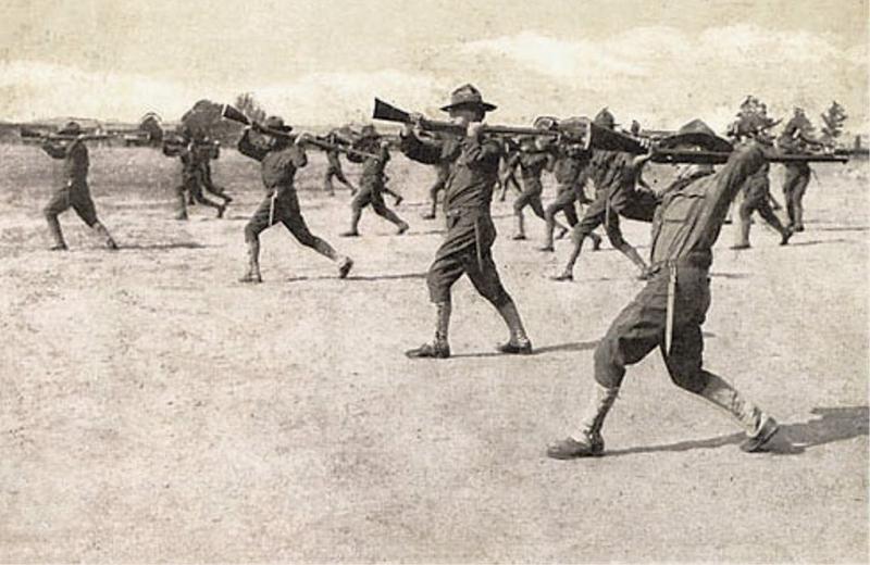 Hand-to-hand combat training at Camp Gordon