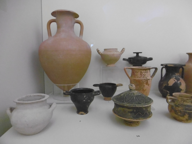 Regional vases at the Archaeological Museum of Kissamos