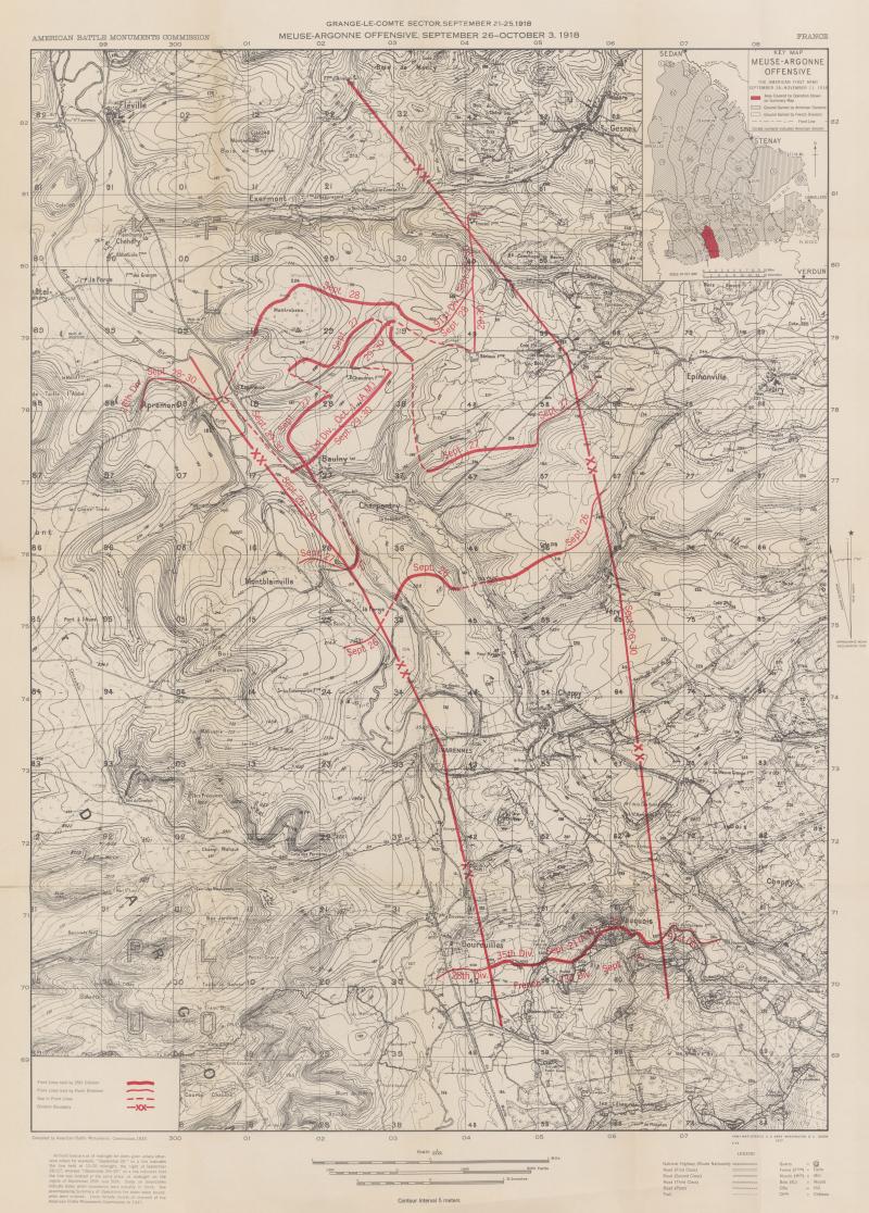 35th Division Grange le Comte Meuse-Argonne - American Battle Monuments Commision 1937
