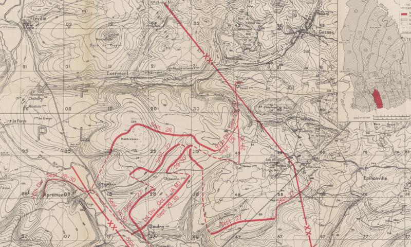 September 29 - 35th Division Grange le Comte Meuse-Argonne - American Battle Monuments Commision 1937