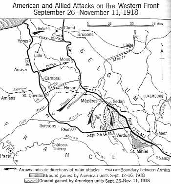 American and Allied Attacks on the Western Front September-November 1918