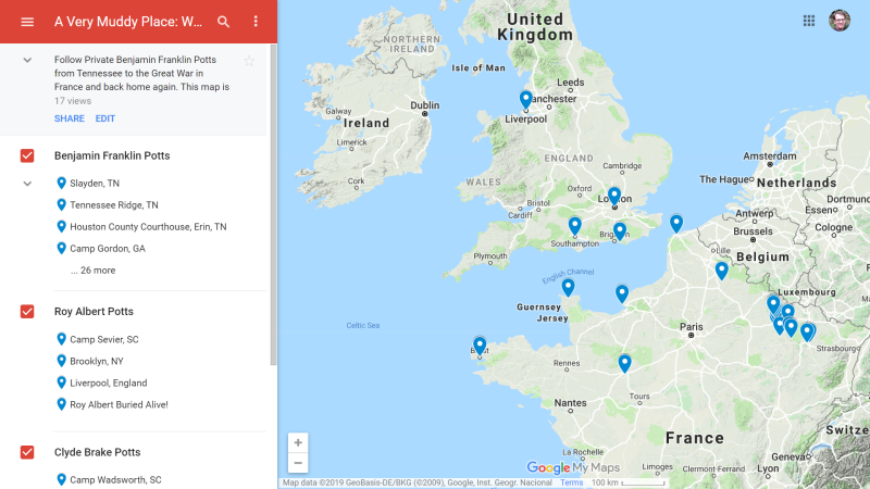 Interactive Itinerary on Google Maps
