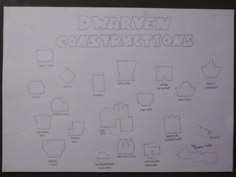 Dwarven constructions for How to Host a Dungeon - Wyrm Dawn