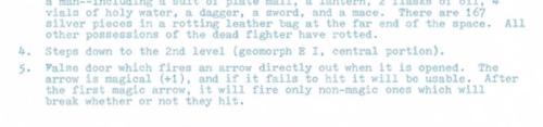 Dungeon Geomorphs Set One  ENCOUNTER KEY EXAMPLE  Room 5