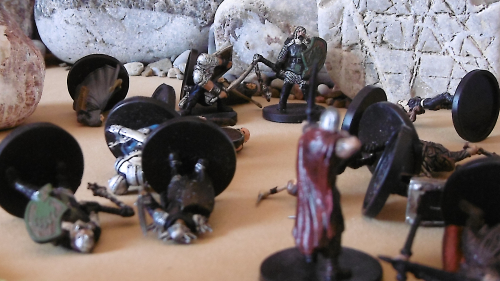 After Jarl Falls to an Arrow  Pal Hargrane and Theodoard Turn to Face the Archer Gareth Tor