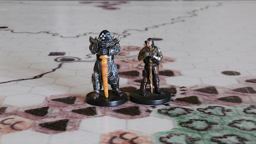 Oberon  Orc King (left)  Mordred  Thane of Gyrhawk Hold (right)