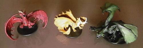 Wyrm-Touched Dragons Ixmundyr  Gullhringr  and Faerunduine