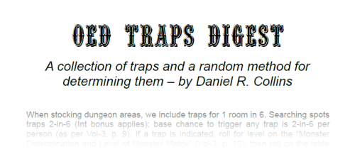 Search for Traps at OED Games